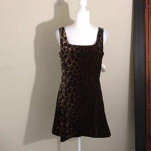 NWT Vintage Jeffery Halper Leopard Dress